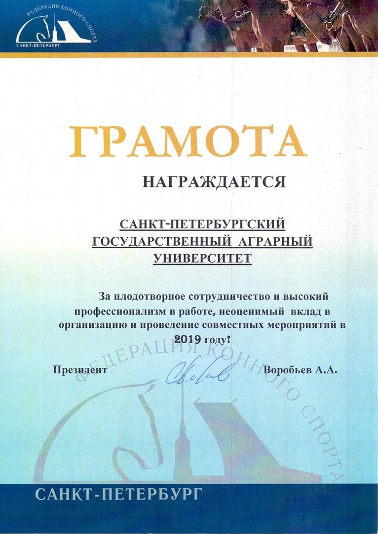 Традиционная церемония награждения лучших спортсменов, тренеров и специалистов в области конного спорта «Гордость Санкт-Петербурга»
