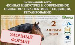 Заочный формат национального форума: «Конная индустрия и современное общество: перспективы, тенденции, регулирование»